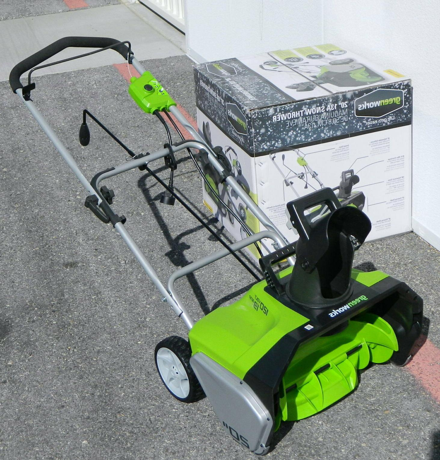 GreenWorks Corded-Electric Snow Thrower