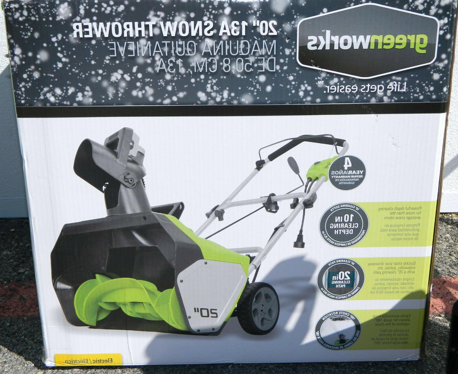 GreenWorks Amp Corded-Electric Thrower Remover Blower