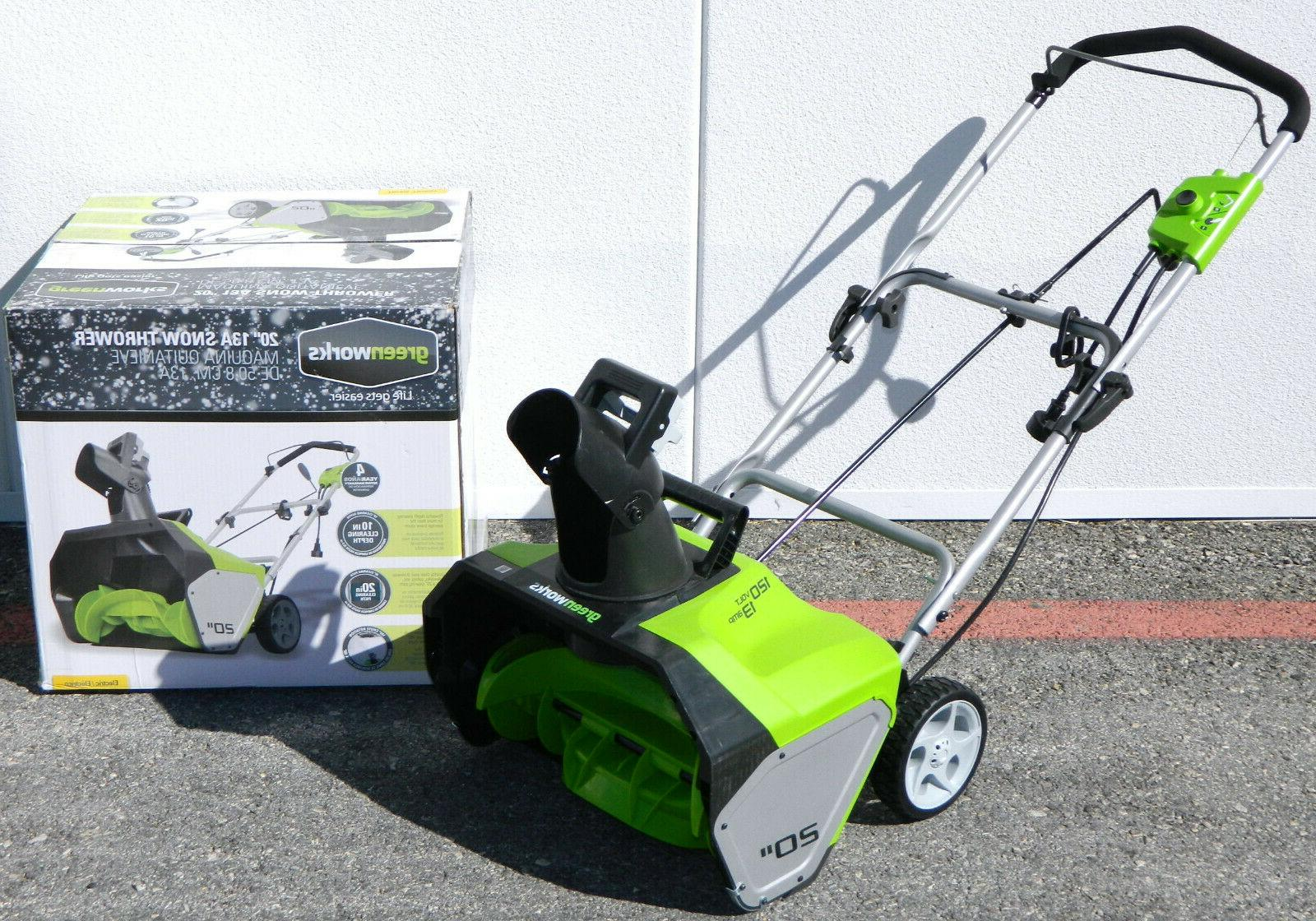 13 amp 20 inch corded electric snow