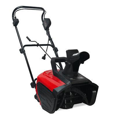 18 1600w electric snow blower thrower throws