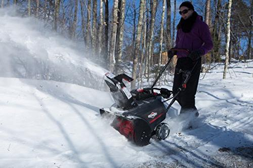 Briggs & 1696506 Single with Snow Shredder and Electric Start,
