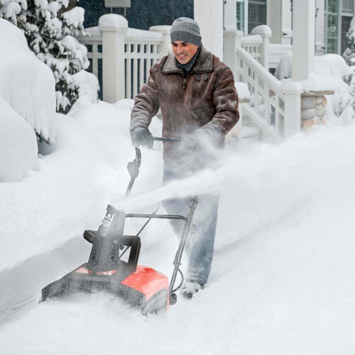 Snow Thrower Snow Blower Driveway Patio Black