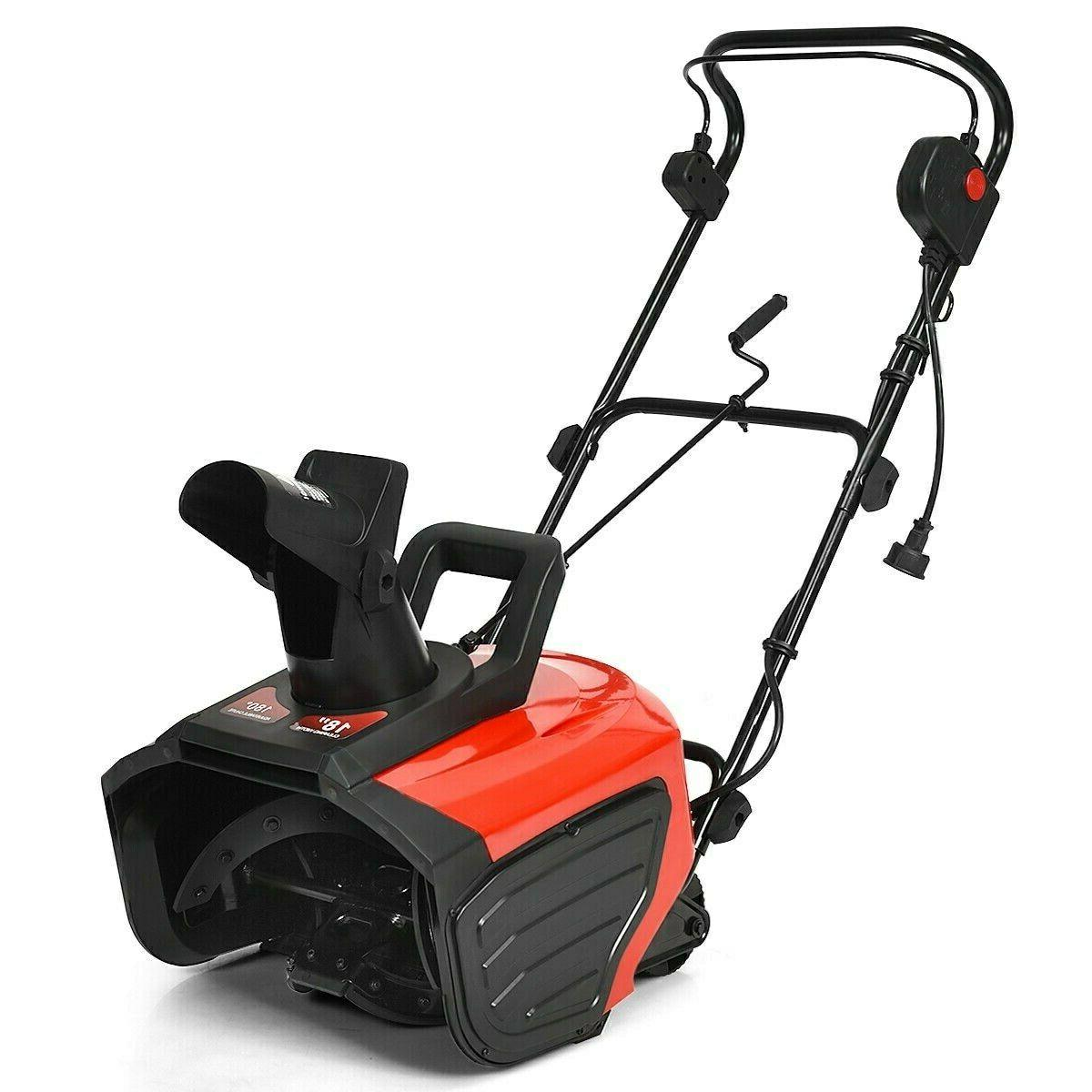 18 15 amp electric snow thrower corded