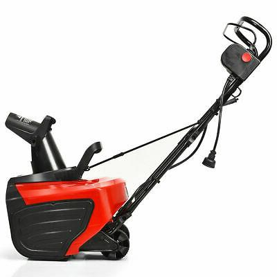 """18"""" 15 Amp Electric Snow Thrower Corded Snow Blower Driveway"""