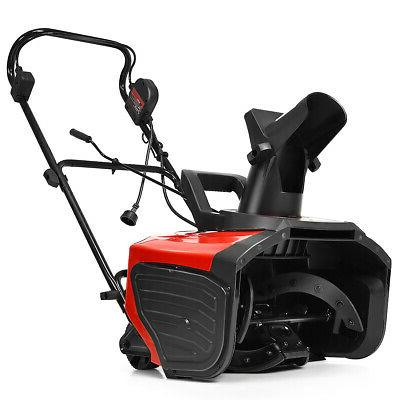 Outdoor 18-Inch 15 Amp Electric Snow Thrower Corded Snow Blo