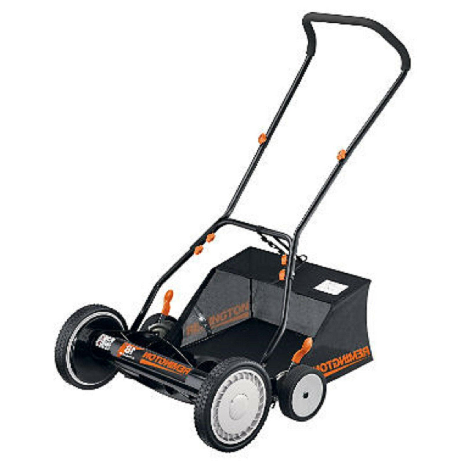 18 reel lawn mower or snow joe