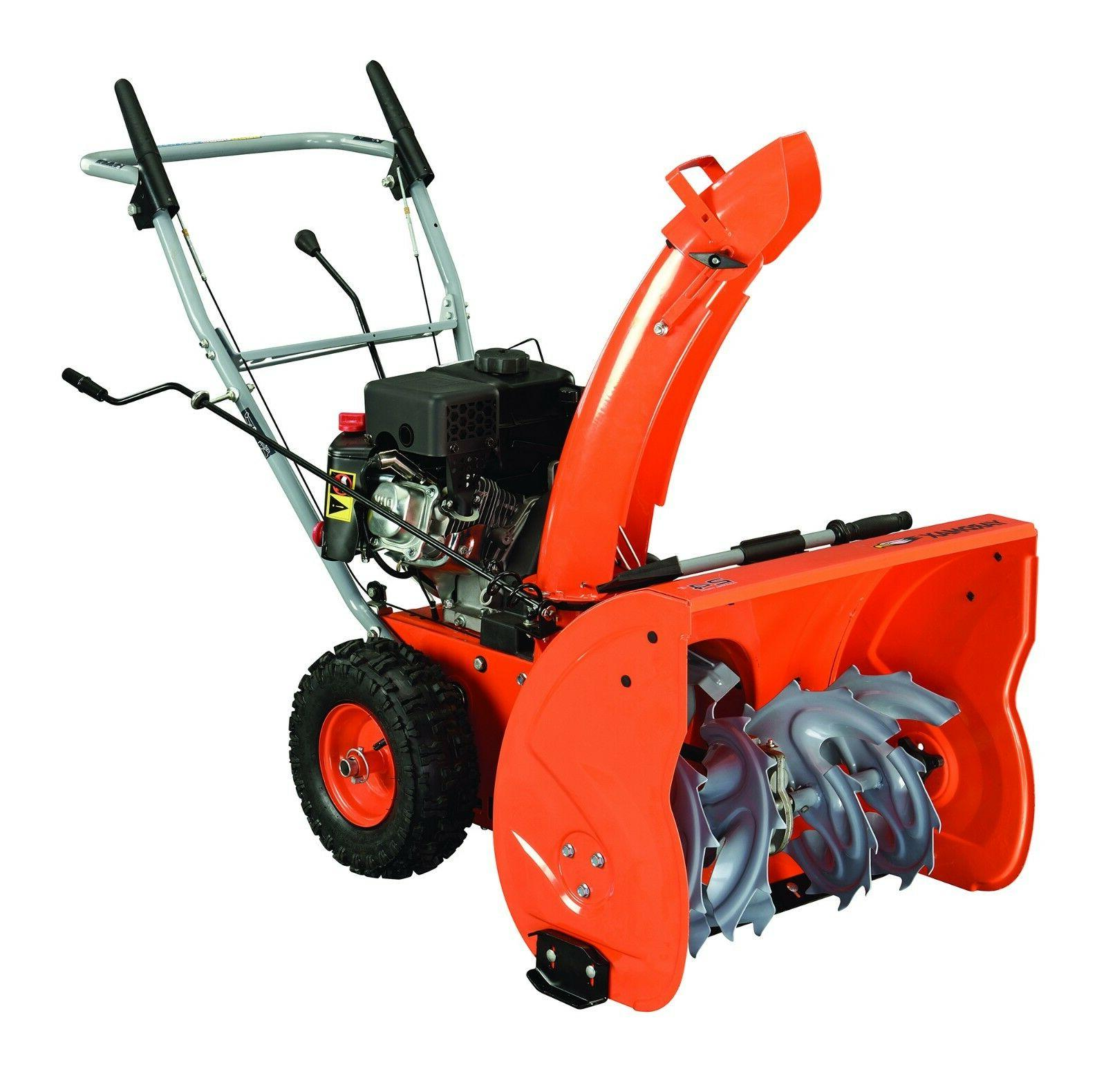 2 stage snow blower 24 self propelled