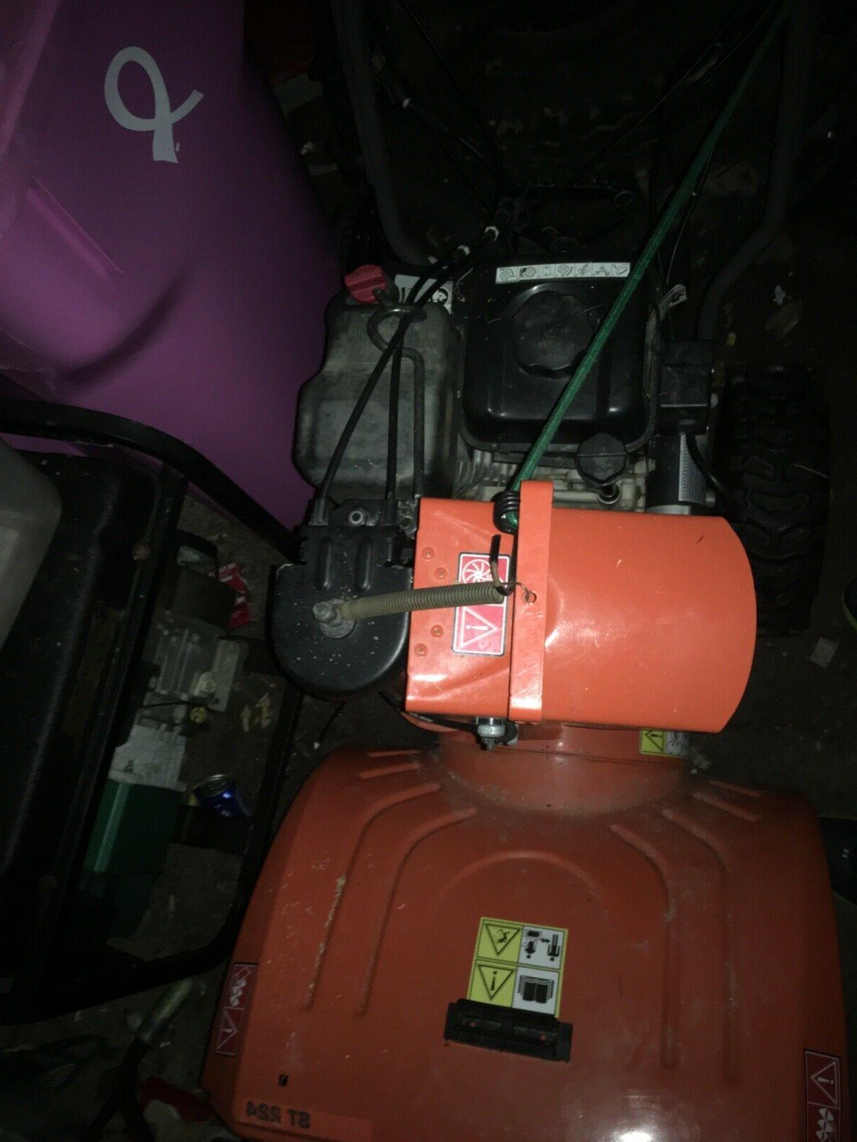 2 stage snow blower st224 electric start