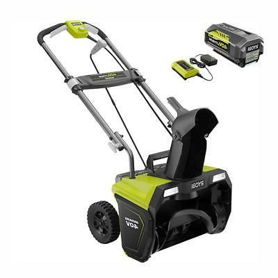 single stage brushless cordless electric snow blower