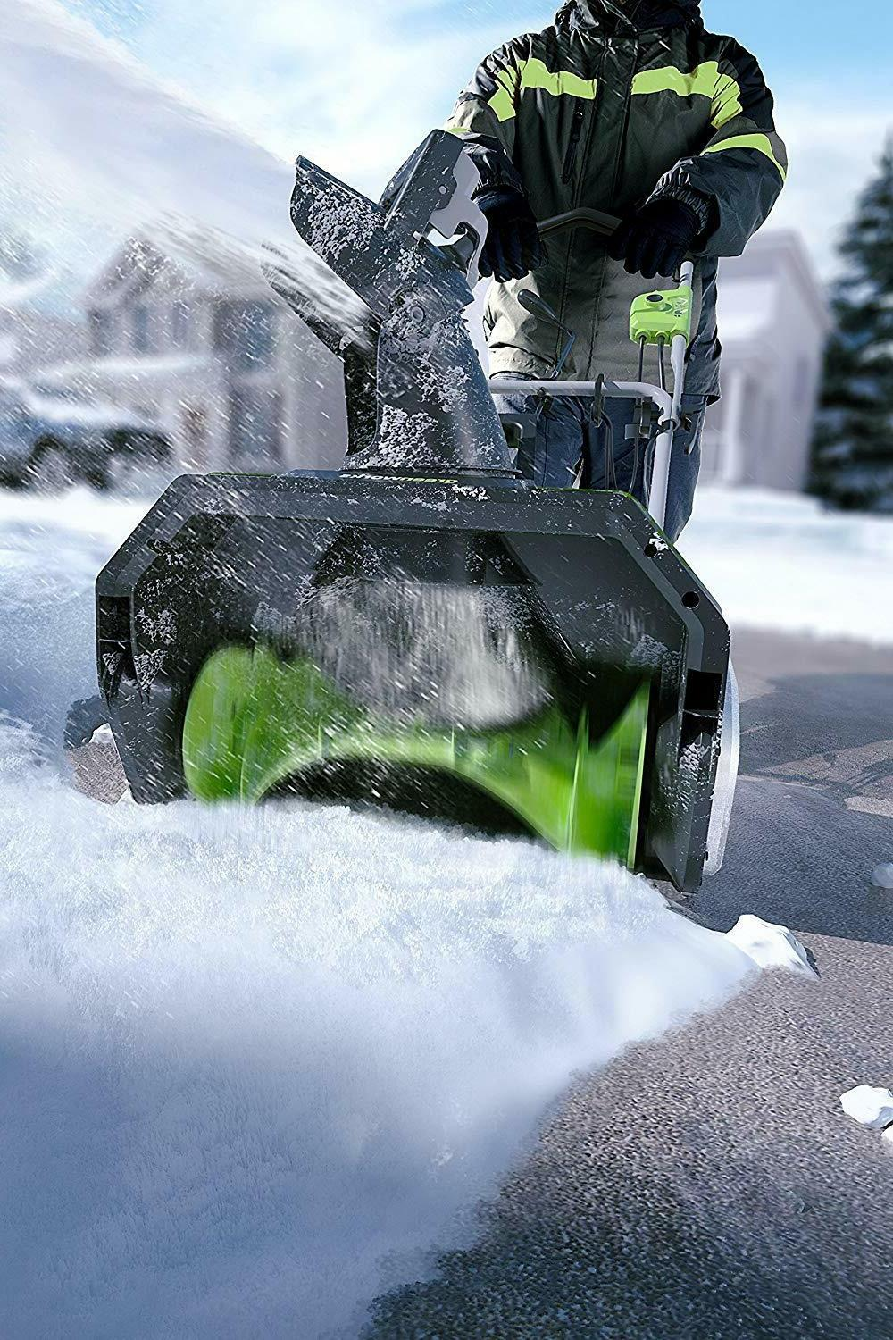 Greenworks Corded Snow Thrower \ SHIPPING