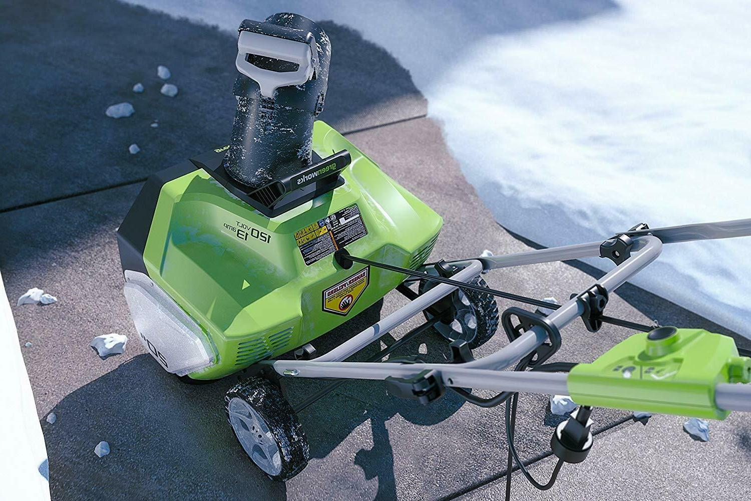 Greenworks 20-Inch 13 Corded Snow Thrower \ SHIPPING
