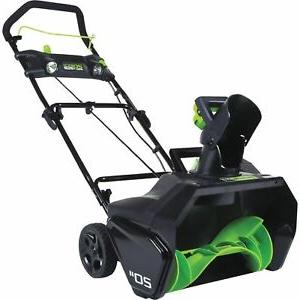 20 inch 80v cordless snow thrower will