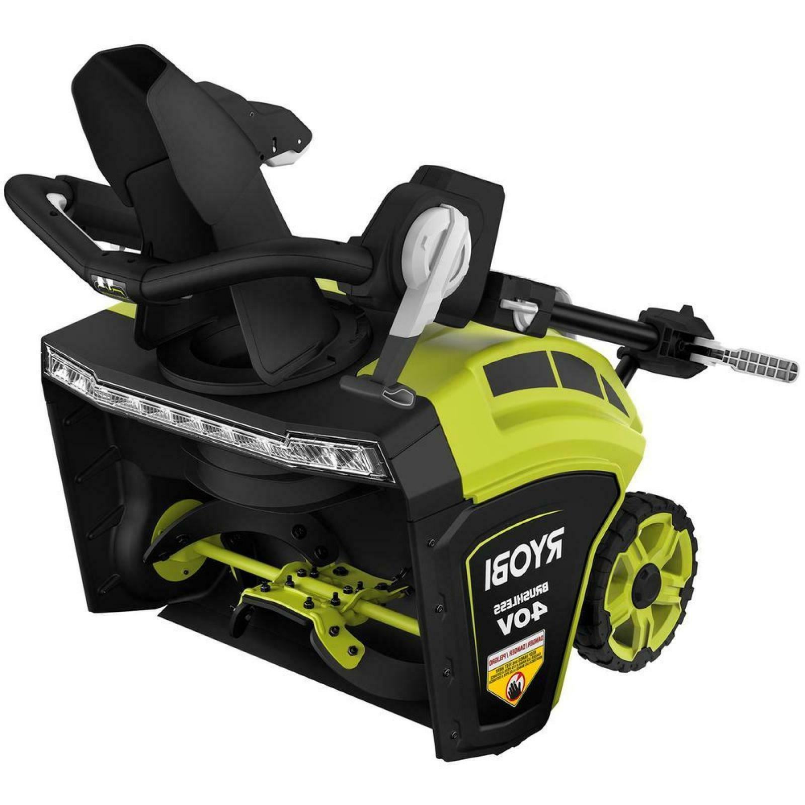 """21"""" 40 Volt Brushless Cordless Electric Snow Walkway Patio"""