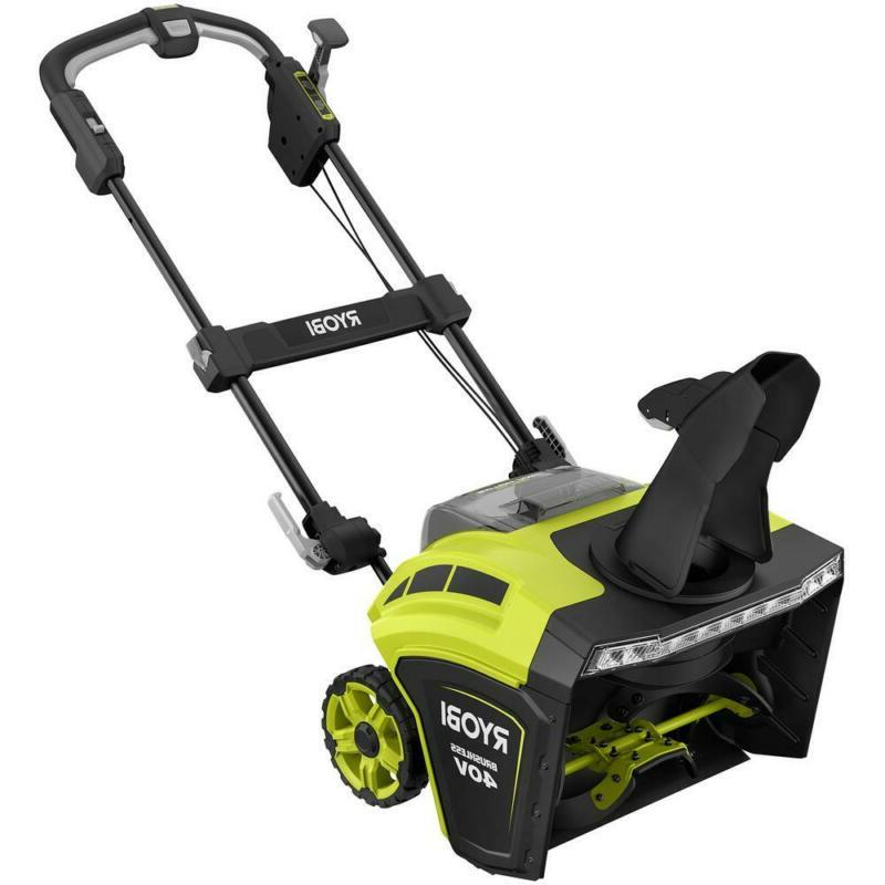 21 In. 40 Brushless Cordless Snow Blower Walkway Patio Driveway