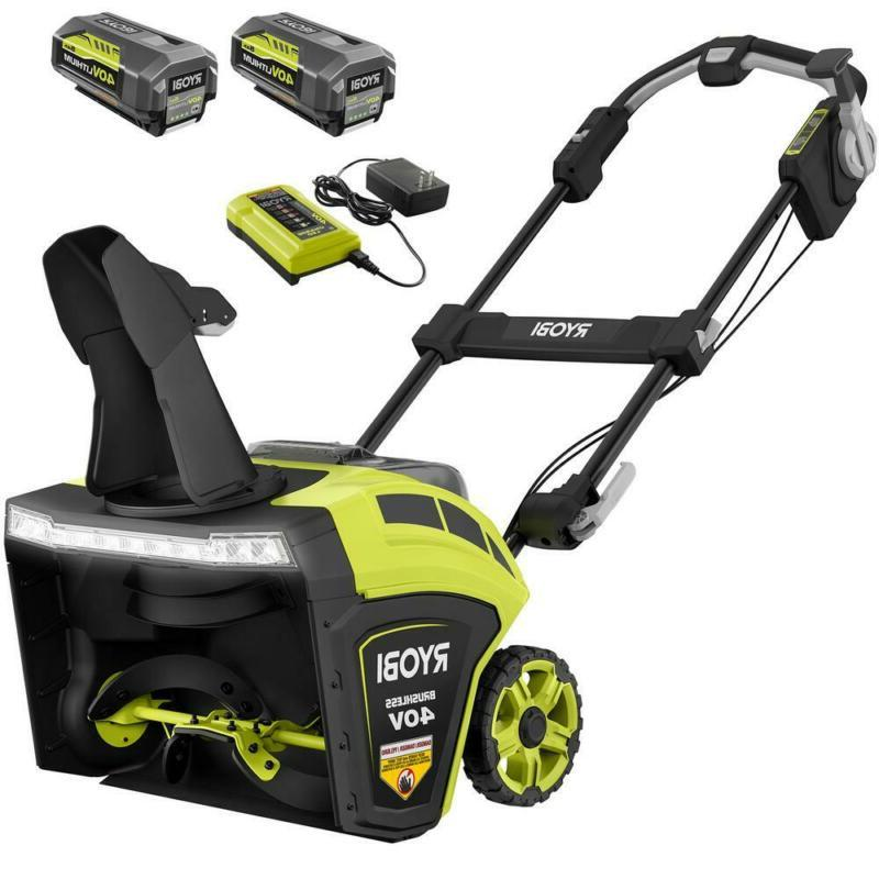 21 40 Volt Brushless Cordless Electric Blower Walkway Driveway