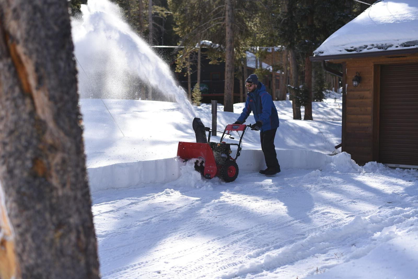 PowerSmart 24inch Two Gas Snow Electric