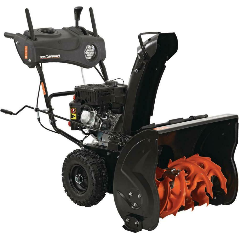 Power Care Two-Stage Snow Blower with Start Headlight