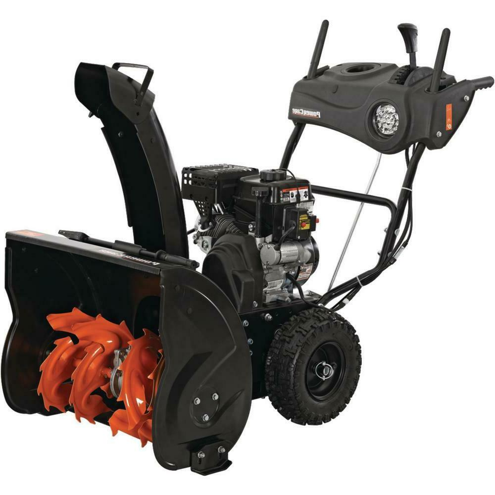 24 in two stage gas snow blower