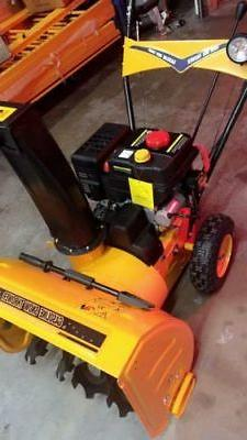 24 inch 212cc Two-Stage Electric Start Gas Snow Blower Snow