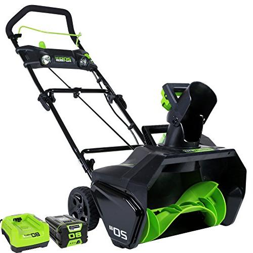 Greenworks Cordless Lithium-Ion 20 in. Snow Thrower Kit