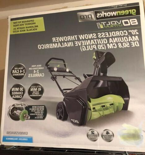 2601302 pro 80v 20 snow thrower tool