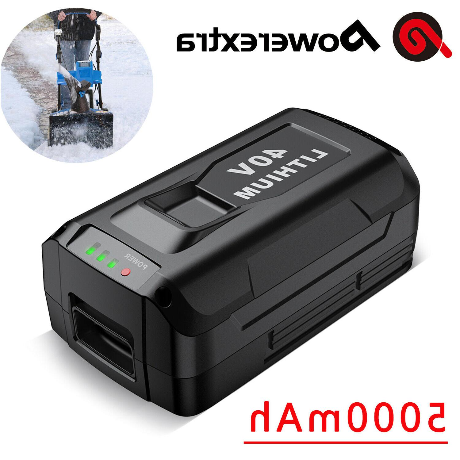40v 5000mah replacement battery for snow joe
