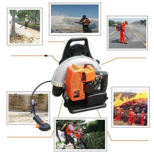 NOPTEG 65CC Commercial Handheld Garden Petrol Leaf Outdoor Gasoline Air Leaf Blower