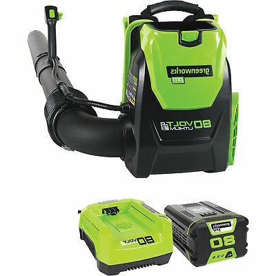 Greenworks PRO 80V 145 MPH - 580 CFM Cordless Backpack Blowe