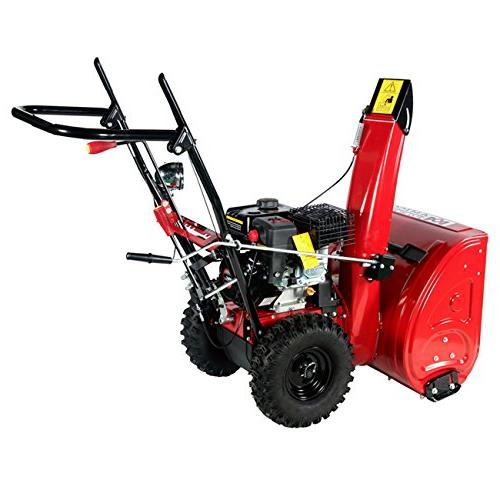 Amico 212cc Stage Electric Start Gas Snow Thrower,