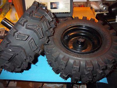 black 1 hub snow blower wheel tire