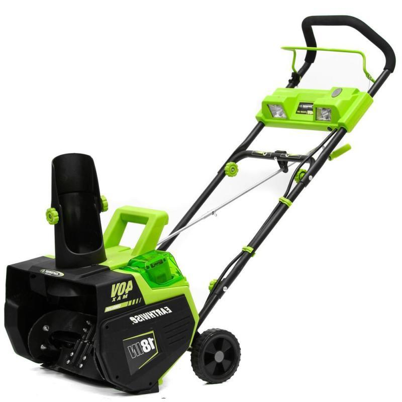 cordless electric snow thrower 18 in 40