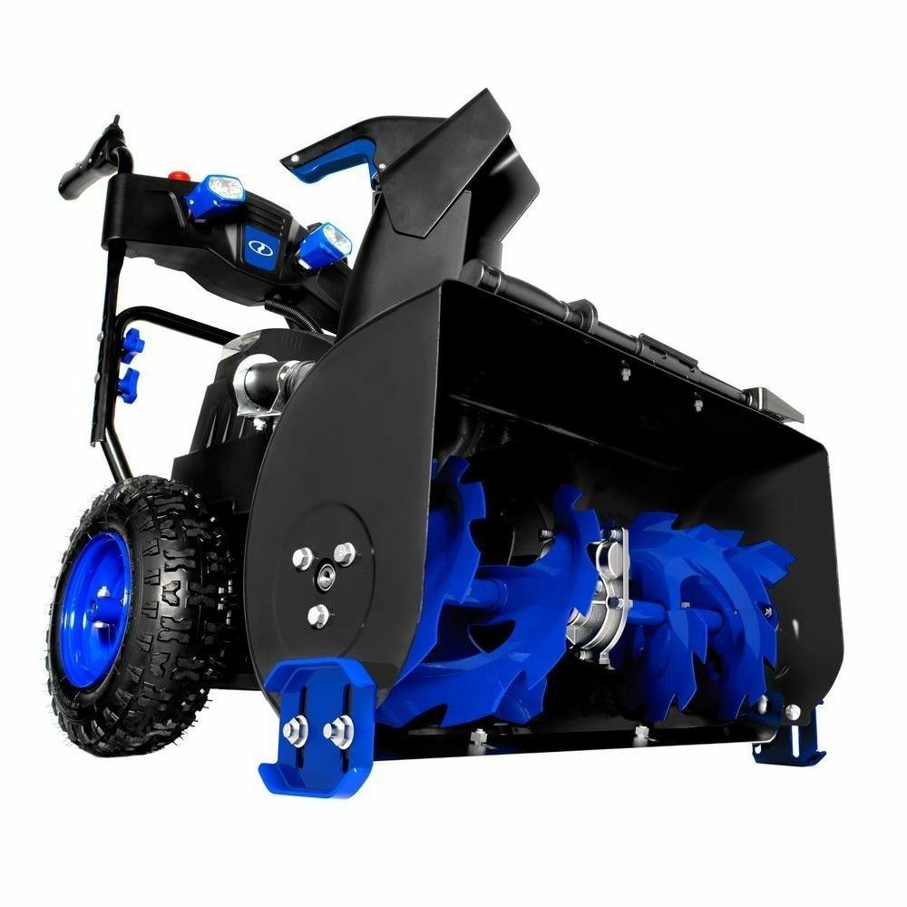 cordless two stage snow blower 24 inch