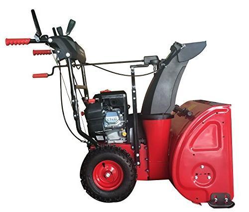 "PowerSmart DB72024PA Gas Snow Blower Assist, 24"" Black"