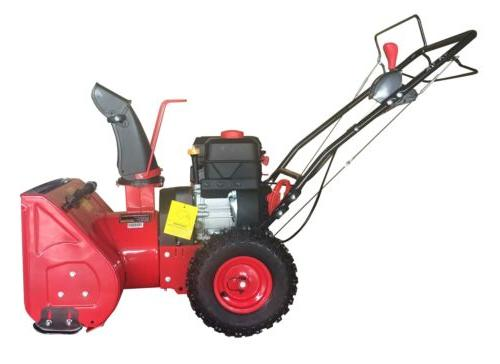 Powersmart DB7622H 22 2-Stage Start Gas Snow Blower 12Cc