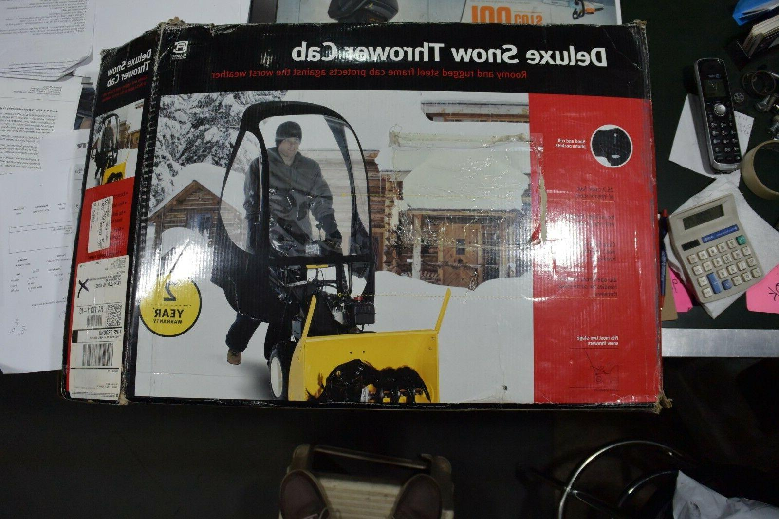 deluxe snow thrower cab with 3 removable