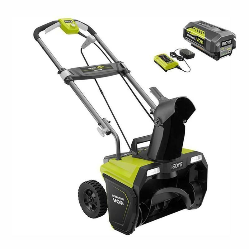 20 In. Volt Brushless Cordless Single Electric Snow