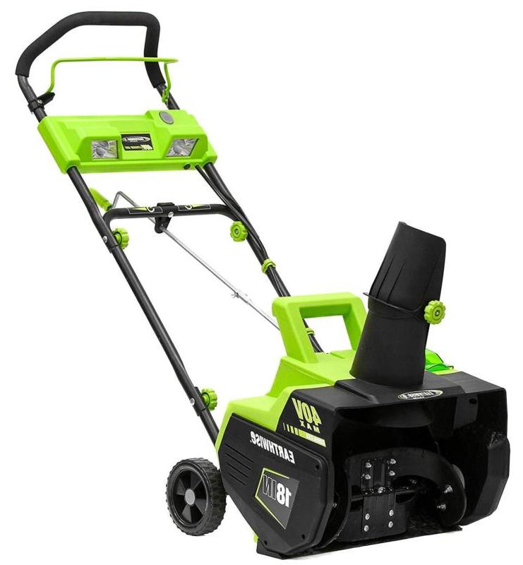 electric snow blower cordless 18 inch
