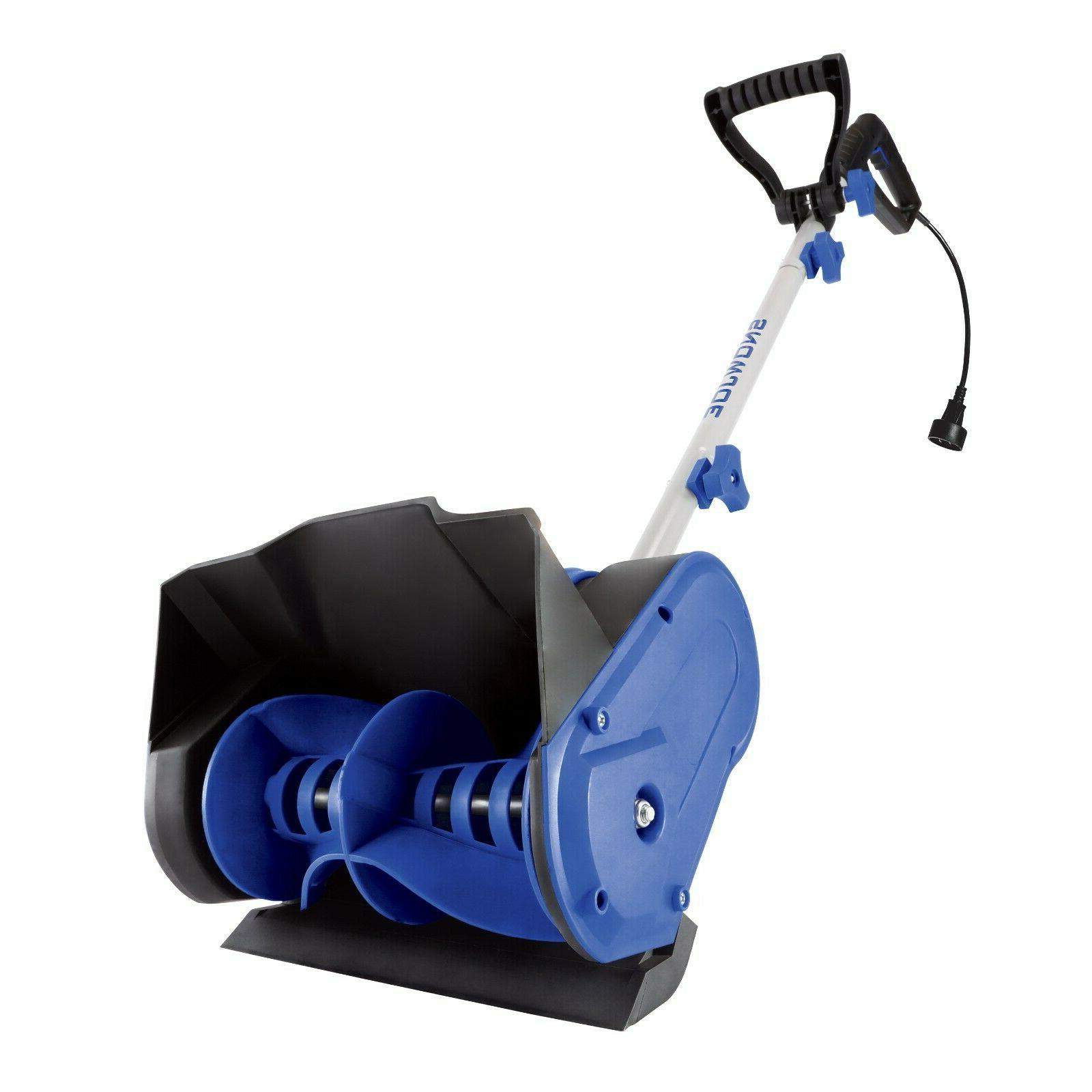 Electric Snow Shovel Blower Plow Inch Amp Corded Lightweight Blue