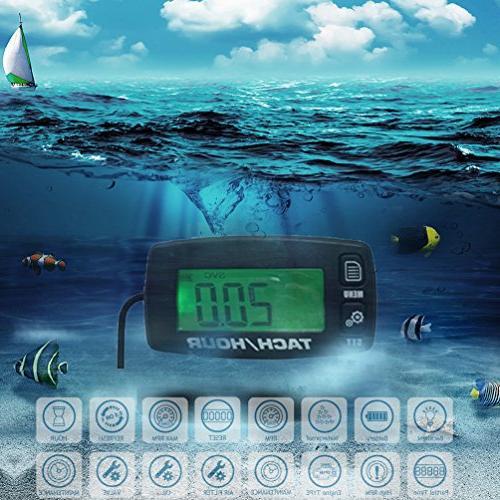 engine hour meter inductive tachometer