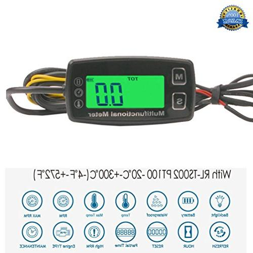 engine hour meter thermometer