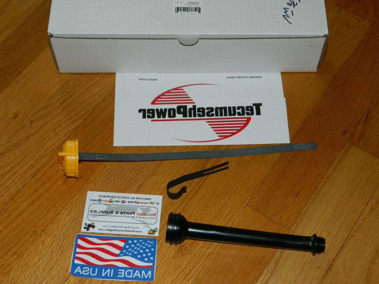 genuine tecumseh oil dipstick and tube h35