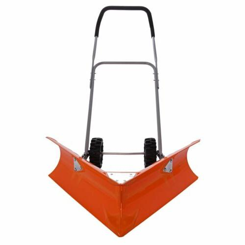 Ivation Heavy Duty Dual Angle Snow Pusher – Manual Push Pl
