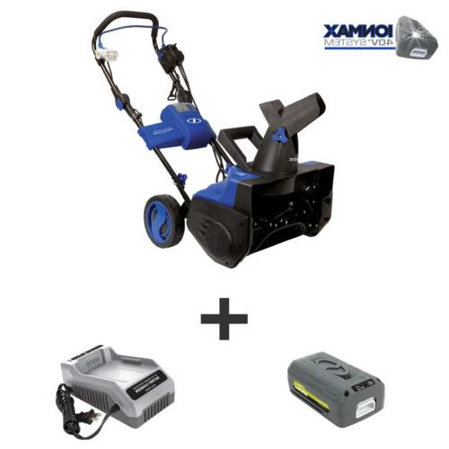 hybrid snow blower 18 inch 40 volt