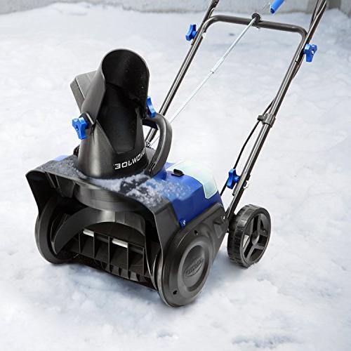 Snow 40 Volt Cordless Single Stage Snow Blower, Blue