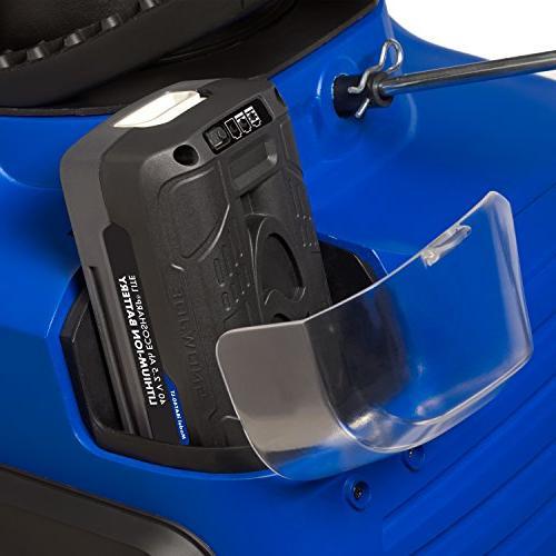 Snow Joe ION15SB-LT 15-Inch 40 Volt Cordless Single Stage Blower, Blue