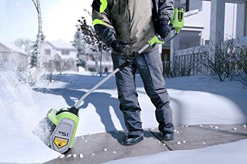 Greenworks 12-Inch Cordless Snow Shovel, Included