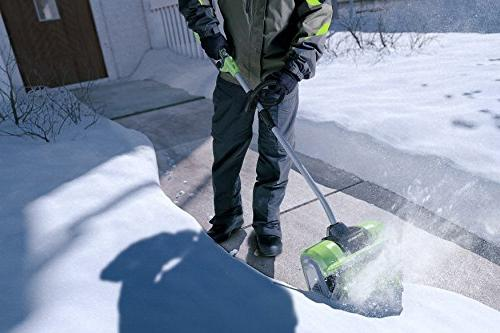Greenworks 12-Inch Snow Shovel, Battery Included