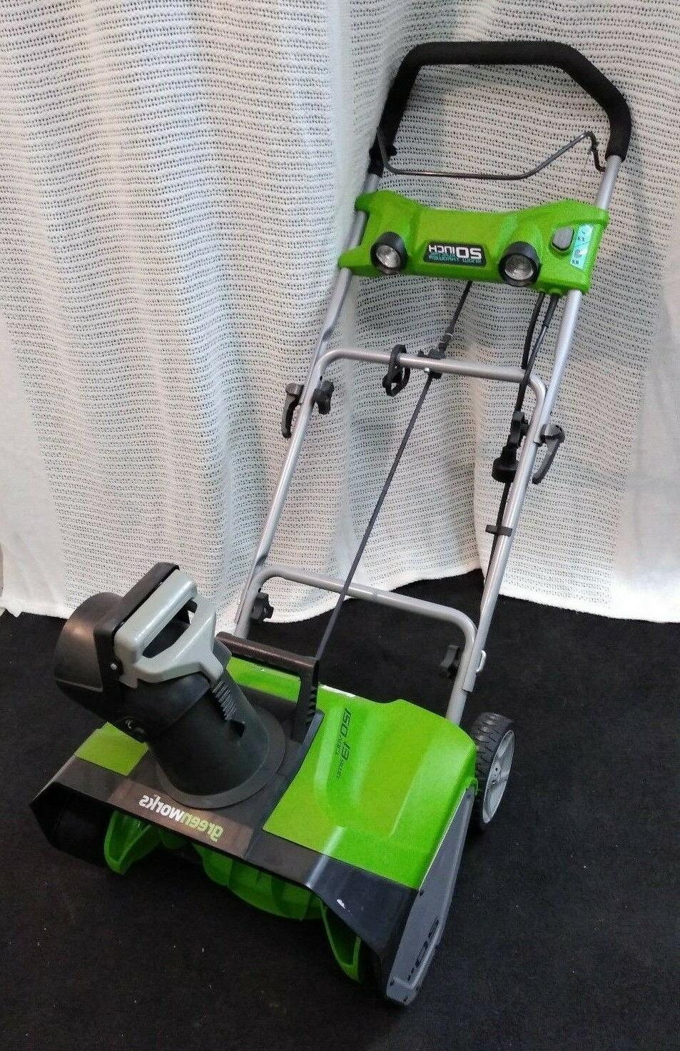 """NEW Green Electric Snow Blower 120Volt 20"""""""