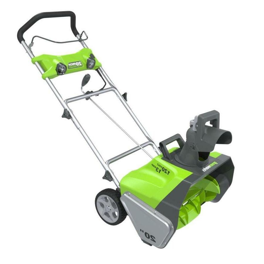 new green works pro electric snow blower