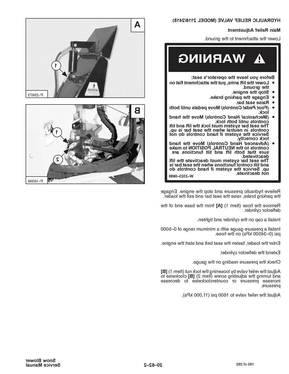 New Bobcat Blower 1412, 2118, Repair Manual